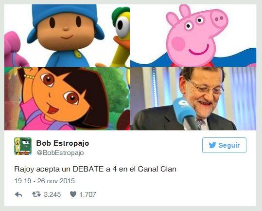 Rajoy acepta un debate a 4 en el Canal Clan