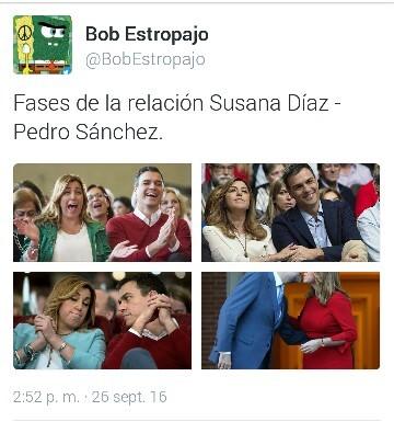 Fases de la relación Susana Díaz – Pedro Sánchez