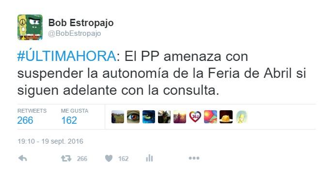 El PP amenaza con suspender autonomía Feria de Abril