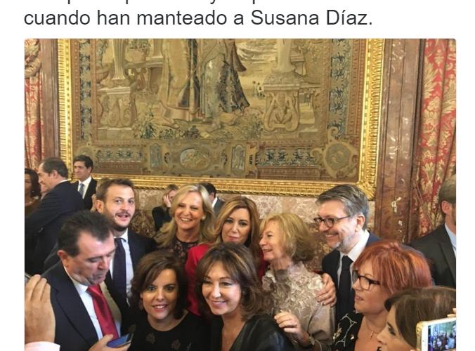 ¿No han manteado a Susana Díaz en el Palacio Real?