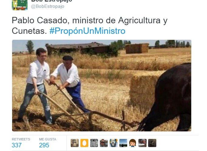 ¿Pablo Casado, ministro de Agricultura?