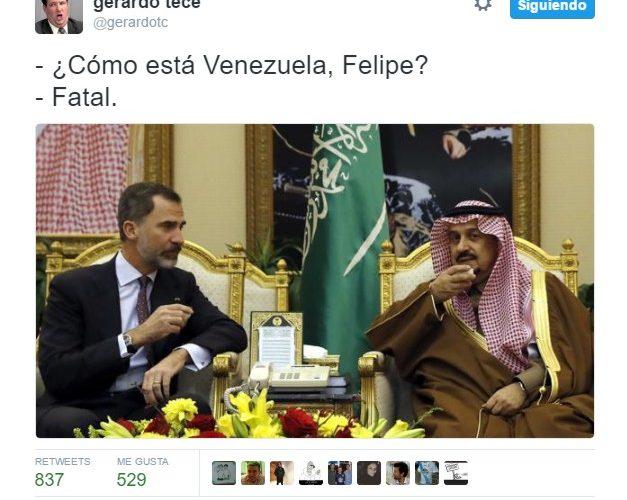 ¿Cómo está Venezuela, Felipe? by @GerardoTC