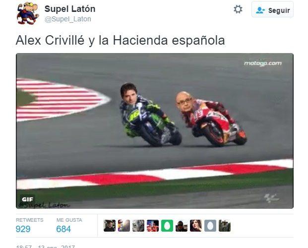 GIF: Alex Crivillé y la Hacienda española by @Supel_Laton