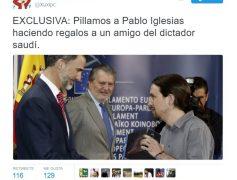 EXCLUSIVA: Pillamos a Pablo Iglesias haciendo regalos a un amigo del dictador saudí by @Xuxipc