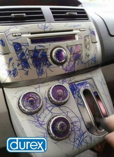 Anuncio Durez coche manchado rotulador