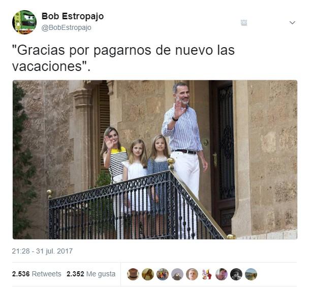 Vacaciones Reales pagadas por todos by BobEstropajo