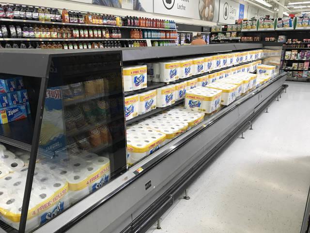 Papel de higiénico en frigoríficos