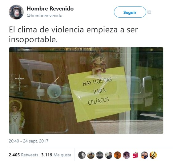 @HombreRevenido Clima de violencia