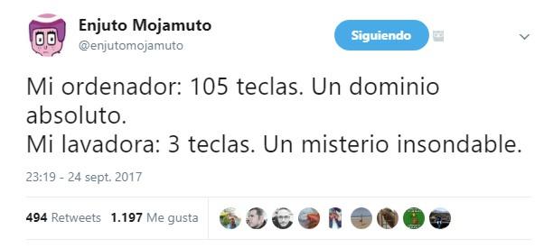 @EnjutoMojamuto Ordenadora vs Lavadora