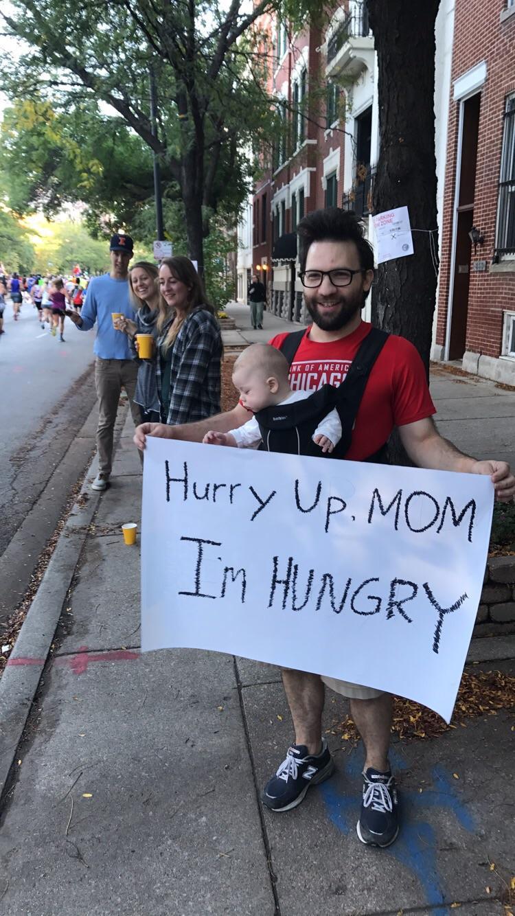 Mamá corriendo maratón chicago